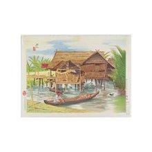 伊東深水: Outskirts of Makassar in Celebes - ミネアポリス美術館
