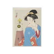Ito Shinsui: Clock and a Beauty (I) - Minneapolis Institute of Arts