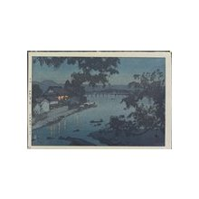吉田博: Evening on the Chikugo River in Hita - ミネアポリス美術館