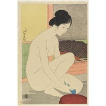 Hashiguchi Goyo: Woman at the Bath - Minneapolis Institute of Arts