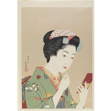 Hashiguchi Goyo: Woman Holding Lip Brush - Minneapolis Institute of Arts