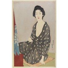 橋口五葉: Woman in Summer Robe - ミネアポリス美術館