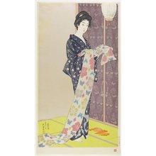 橋口五葉: Woman in Summer Kimono - ミネアポリス美術館