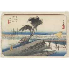 歌川広重: Mie River, Yokkaichi - ミネアポリス美術館