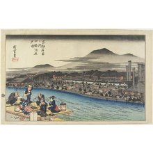 Utagawa Hiroshige: Cooling of the Evening at Shijo Riverbank - Minneapolis Institute of Arts
