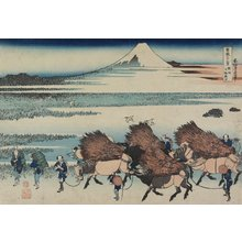 Katsushika Hokusai: The Paddies of Ono in Suruga Province - Minneapolis Institute of Arts