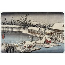 Utagawa Hiroshige: Snow at the Shrine Ground of Kameido Tenman - Minneapolis Institute of Arts