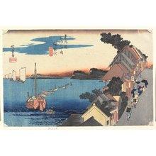 歌川広重: Hilltop View, Kanagawa - ミネアポリス美術館