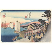 Utagawa Hiroshige: Sunrise--Shinagawa - Minneapolis Institute of Arts