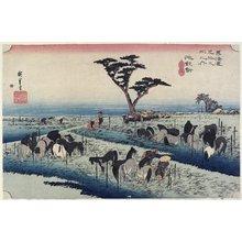歌川広重: April Horse Fair, Chiryu - ミネアポリス美術館