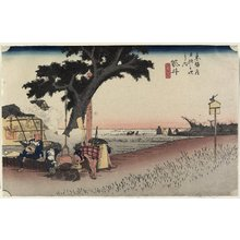 Utagawa Hiroshige: Tea Stall, Fukuroi - Minneapolis Institute of Arts