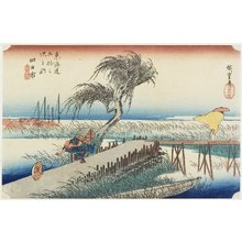 Utagawa Hiroshige: Mie River, Yokkaichi - Minneapolis Institute of Arts