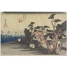 Utagawa Hiroshige: Princess Tora's Rain, Oiso - Minneapolis Institute of Arts