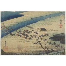 Utagawa Hiroshige: Suruga Bank of Oi River at Shimada - Minneapolis Institute of Arts