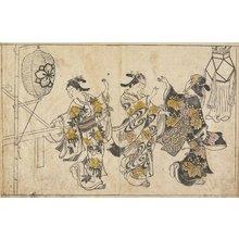 西川祐信: (Three Women Dancing) - ミネアポリス美術館
