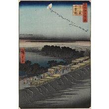 歌川広重: Nihon Embankment, Yoshiwara - ミネアポリス美術館