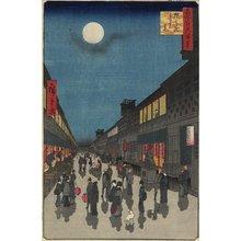 歌川広重: Evening View, of Saruwaka-machi - ミネアポリス美術館