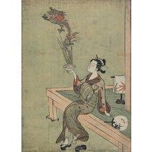 鈴木春信: Woman Likened to Chinese Hermit Handling Dragon - ミネアポリス美術館
