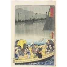 豊原国周: Returning Sails at Yabase in Zeze - ミネアポリス美術館