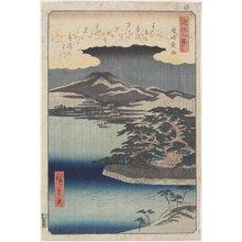 Utagawa Hiroshige II: Night Rain at Karasaki - Minneapolis Institute of Arts