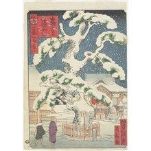歌川芳滝: Rennyo-Pine Tree at Miyanomori - ミネアポリス美術館