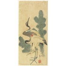 Katsushika Taito II: Two Cranes and Pine Branches - ミネアポリス美術館