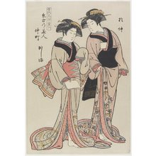 Kitao Shigemasa: Beauties in the Eastern Ward, Onaka and Oshima from Naka-machi - Minneapolis Institute of Arts