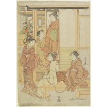 勝川春章: (A Group of Ladies on a Veranda) - ミネアポリス美術館