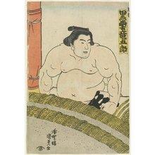 歌川国貞: The Wrestler Kurokumo Tatsugoro of the Higo Stable - ミネアポリス美術館