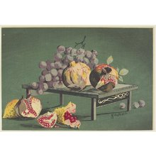 Kobayashi Kiyochika: Pomegranates and Grapes - Minneapolis Institute of Arts