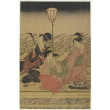 Utagawa Toyohiro: June (Summer Party on the Kamo River) - Minneapolis Institute of Arts