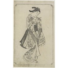 Nishikawa Sukenobu: (Courtesan Holding a Battledore) - Minneapolis Institute of Arts