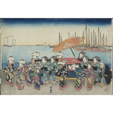 Utagawa Hiroshige: (Wedding Procession) - Minneapolis Institute of Arts