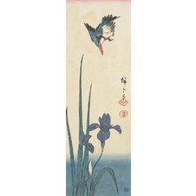 歌川広重: (Iris and Kingfisher) - ミネアポリス美術館