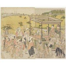 鳥居清長: (The Sanno Festival Procession) - ミネアポリス美術館