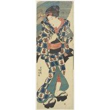 歌川国貞: (Young Girl with Umbrella) - ミネアポリス美術館