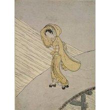 Suzuki Harunobu: Mitate of Fujiwara no Teika's Poem
