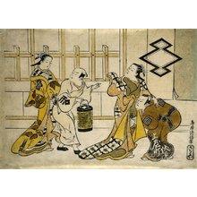 鳥居清信: Ichikawa Danjuro II, Fujimura Handayu II, Katsuyama Matagoro, and Sanogawa Mangiku - ミネアポリス美術館
