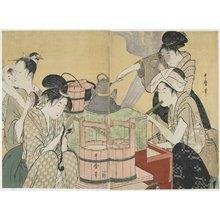 喜多川歌麿: Kitchen Scene - ミネアポリス美術館