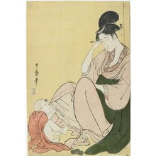 Kitagawa Utamaro: Woman and a Child Pointing - Minneapolis Institute of Arts