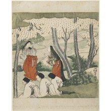 Agematsu To_shu_: (Two Court Ladies and Three Old Men) - ミネアポリス美術館