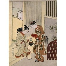 Suzuki Harunobu: Lovers Plying a Rooster with Sake - Minneapolis Institute of Arts