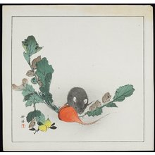 月岡耕漁: Mouse and Carrot - ミネアポリス美術館