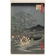 歌川広重: New Year's Eve Foxfires at Nettle Tree, Oji - ミネアポリス美術館