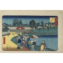 Utagawa Hiroshige: Outer Sakurada - Minneapolis Institute of Arts