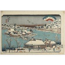 Keisai Eisen: Evening Snow at Shinobugaoka - Minneapolis Institute of Arts
