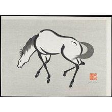 Urushibara Mokuchu_: Horse - ミネアポリス美術館