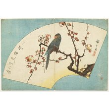 Utagawa Hiroshige: (Parrot on a Flowering Plum) - Minneapolis Institute of Arts
