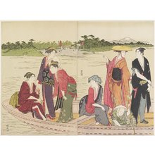 Torii Kiyonaga: Ferryboat on the Rokugo River - Minneapolis Institute of Arts