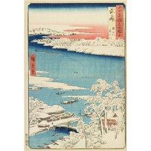 Utagawa Hiroshige: Morning after Snow at Sumida River in Musashi Province - Minneapolis Institute of Arts